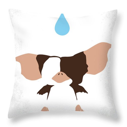 Gremlins Throw Pillow featuring the digital art No451 My Gremlins Minimal Movie Poster by Chungkong Art