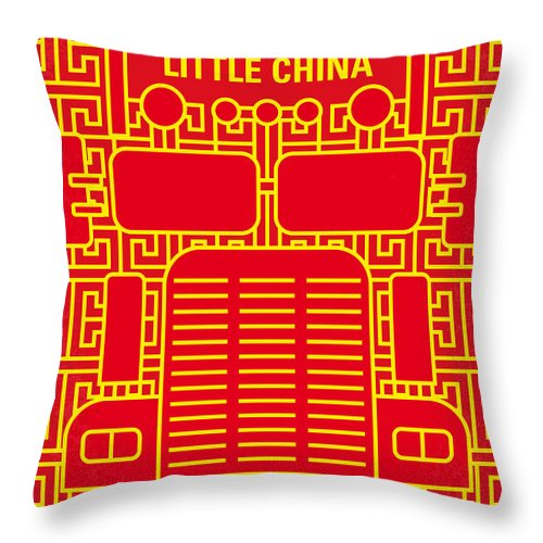 Big Throw Pillow featuring the digital art No515 My Big Trouble In Little China Minimal Movie Poster by Chungkong Art