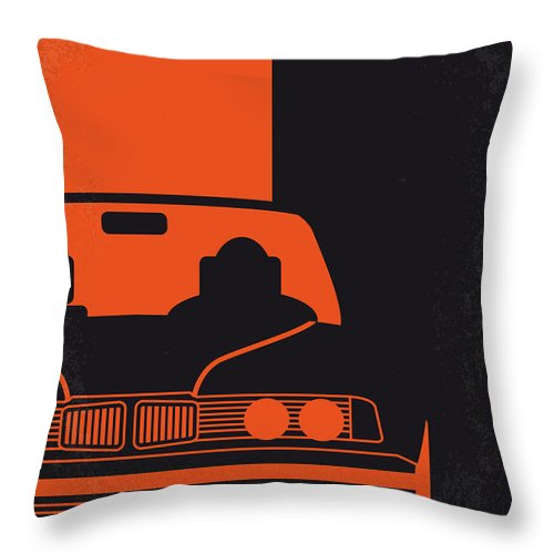 Transporter Throw Pillow featuring the digital art No552 My The Transporter Minimal Movie Poster by Chungkong Art