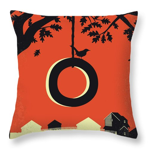 To Throw Pillow featuring the digital art No844 My To Kill A Mockingbird Minimal Movie Poster by Chungkong Art