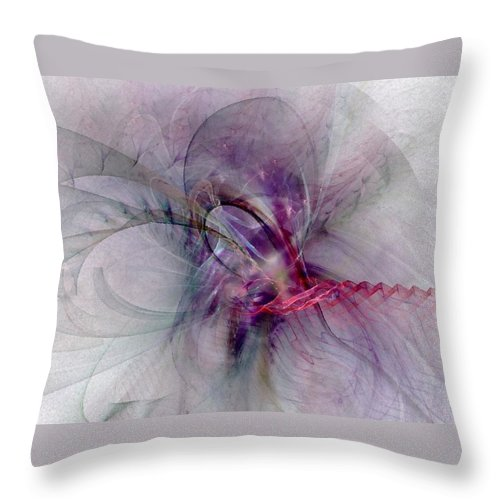 Spiritual Throw Pillow featuring the digital art Nobility Of Spirit - Fractal Art by NirvanaBlues