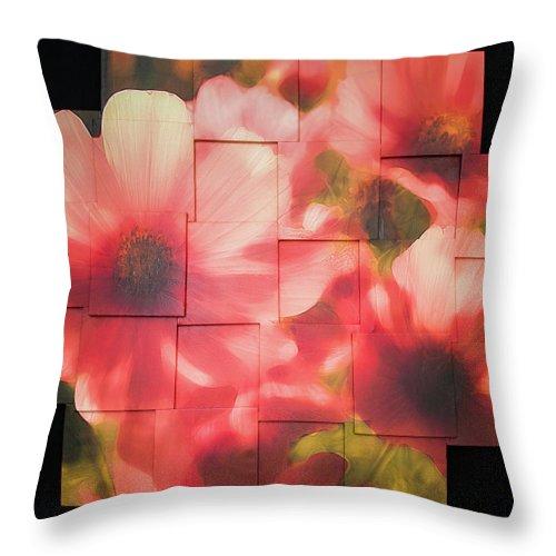 Flower Throw Pillow featuring the sculpture Nocturnal Pinks Photo Sculpture by Michael Bessler