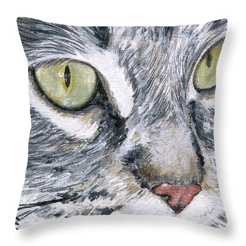 Charity Throw Pillow featuring the painting Noel by Mary-Lee Sanders
