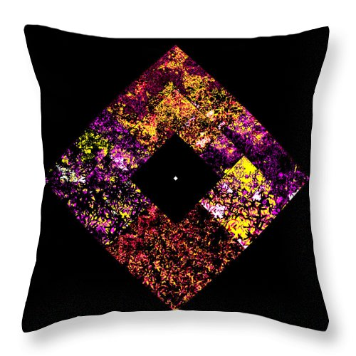 Square Throw Pillow featuring the digital art Non Ex Nihilo Sed Ab Infinitate by Eikoni Images