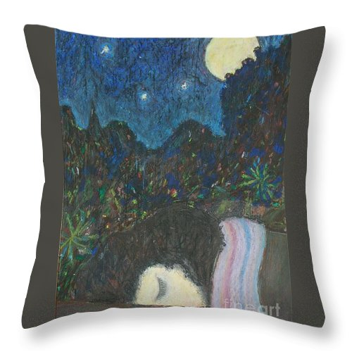 Sleep Throw Pillow featuring the painting Norah Sleeping by Andy Mercer