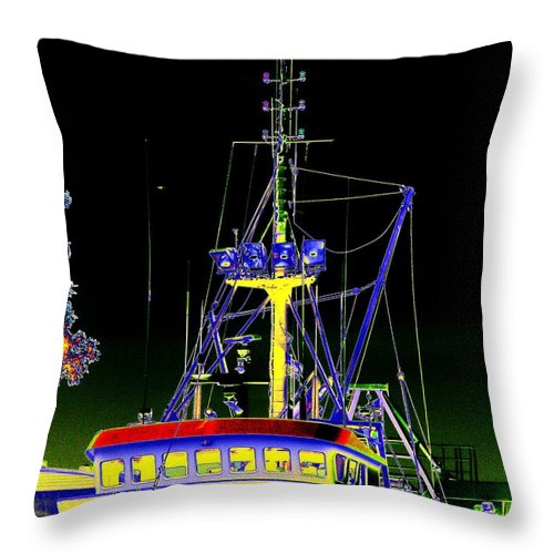 Seattle Throw Pillow featuring the digital art Nordic Fury by Tim Allen