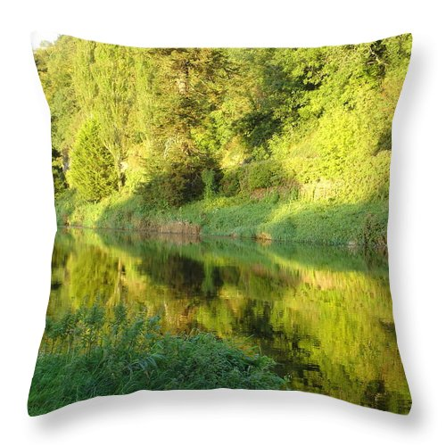 Nore Throw Pillow featuring the photograph Nore Reflections II by Kelly Mezzapelle