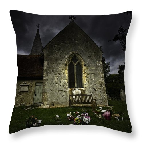 Church Throw Pillow featuring the photograph Norman Church At Lissing Hampshire England by Sheila Smart Fine Art Photography