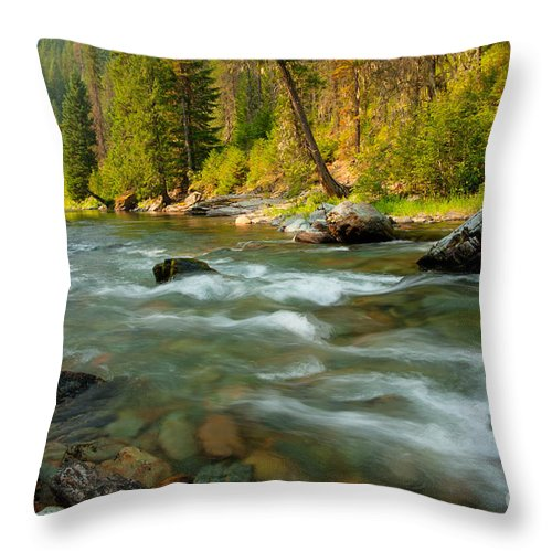 River Throw Pillow featuring the photograph North Fork Of The St. Joe by Idaho Scenic Images Linda Lantzy