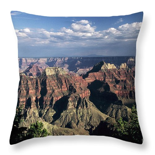 Grand Canyon; National Parks Throw Pillow featuring the photograph North Rim by Kathy McClure
