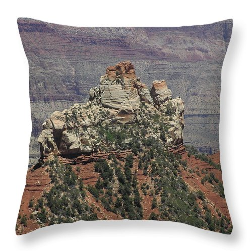 Rock Throw Pillow featuring the photograph North Rim Rock by Louise Magno