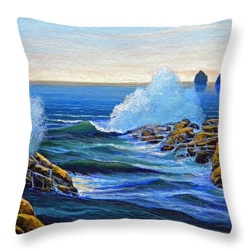 Ocean Throw Pillow featuring the painting North Shore by Frank Wilson