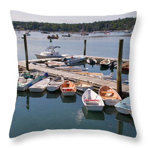 Travel Throw Pillow featuring the photograph Northeast Harbor Maine by Louise Heusinkveld