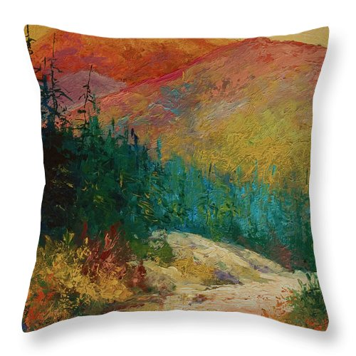 Alaska Throw Pillow featuring the painting Northern Essence by Marion Rose