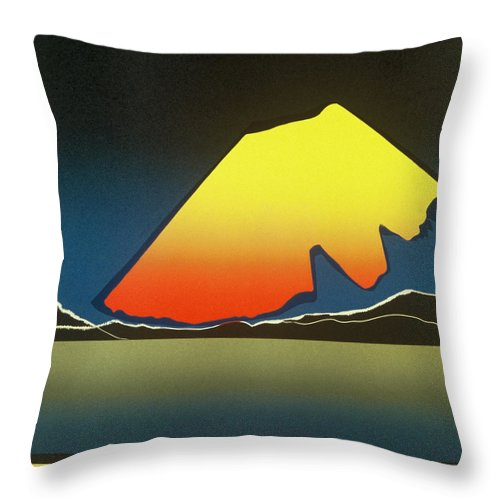 Landscape Throw Pillow featuring the mixed media Northern Light. by Jarle Rosseland