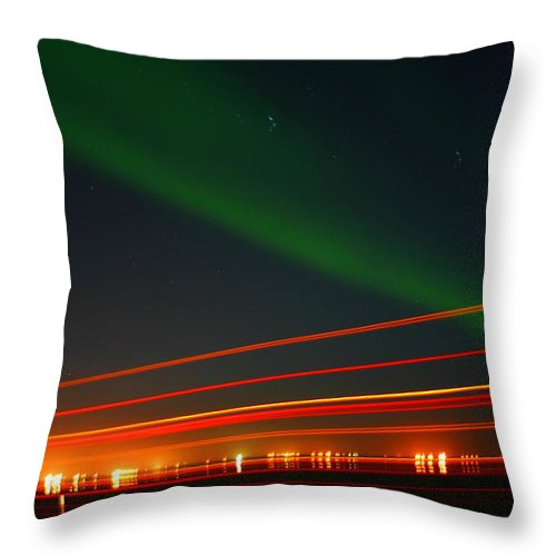 Northern Lights Throw Pillow featuring the photograph Northern Lights by Anthony Jones