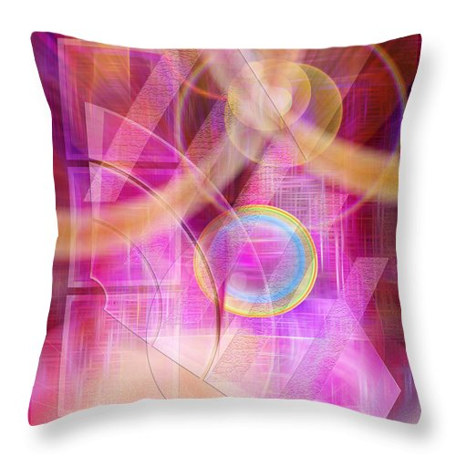 Northern Lights Throw Pillow featuring the digital art Northern Lights by John Robert Beck