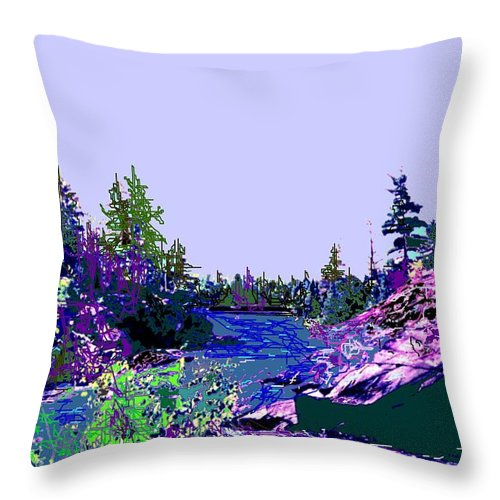 Norlthern Throw Pillow featuring the photograph Northern Ontario River by Ian MacDonald