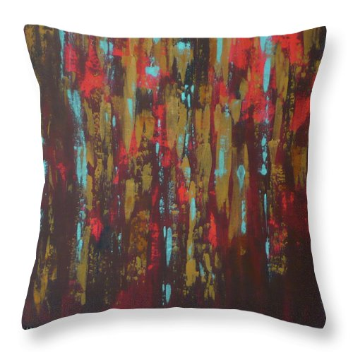 Northern Throw Pillow featuring the painting Northern Rain by Monika Shepherdson