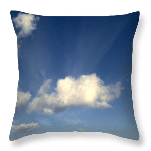 Northern Sky Throw Pillow featuring the photograph Northern Sky by Flavia Westerwelle