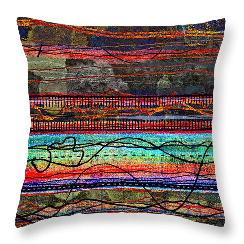 Cumbria Throw Pillow featuring the digital art Northumberland 2 by Andy Mercer
