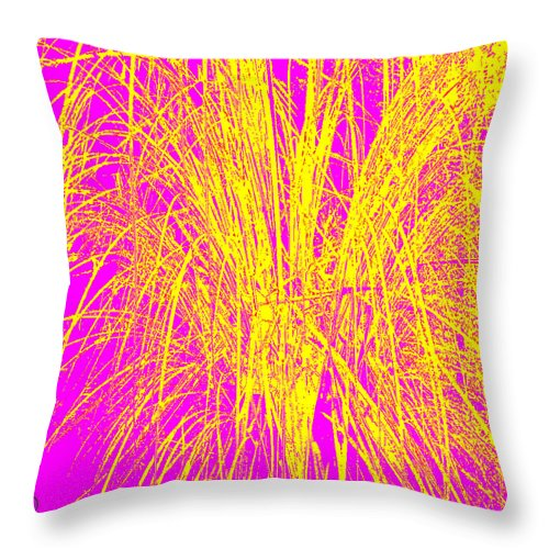 Square Throw Pillow featuring the digital art Not A Woodcut by Eikoni Images