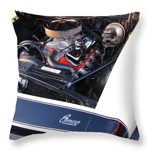 Camaro Throw Pillow featuring the photograph Not Bad For A Camaro by Gary Adkins