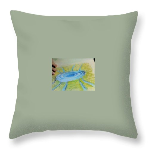 Fantasy Landscape Throw Pillow featuring the drawing Not Everything Goes Down The Drain by Mike Rector