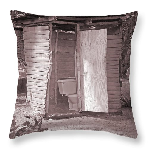 Lavatory Throw Pillow featuring the photograph Not For The Faint-hearted by David Birchall