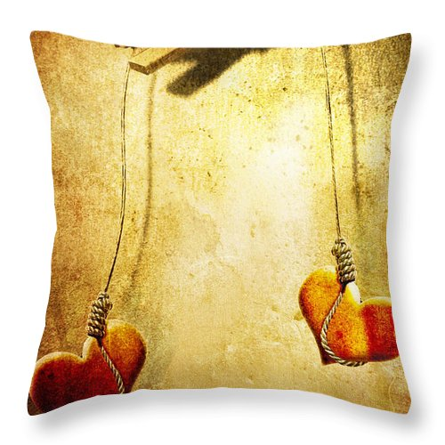 Puppeteer Throw Pillow featuring the painting Not Meant To Be... by Jacky Gerritsen