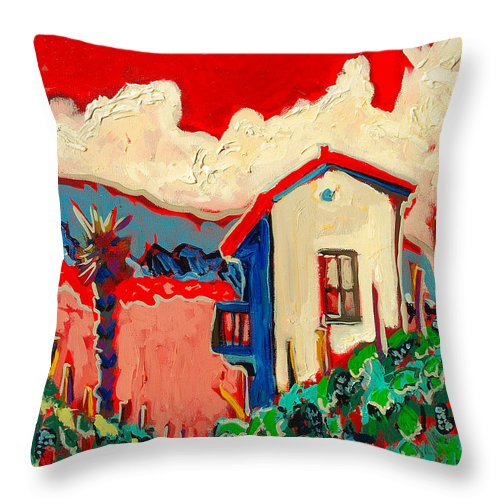 Tuscany Throw Pillow featuring the painting Notare by Kurt Hausmann