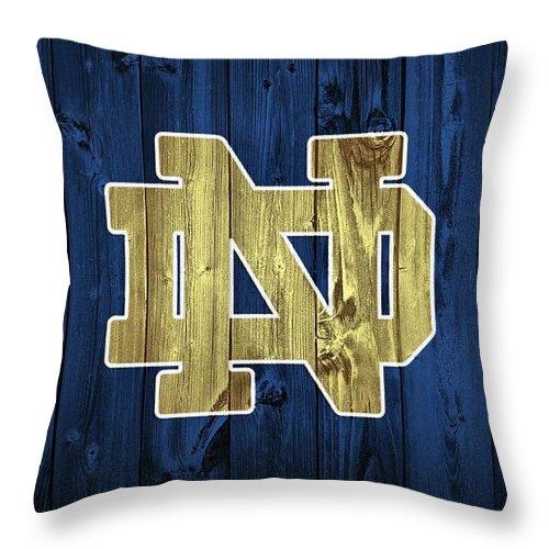 Notre Dame Barn Door Throw Pillow featuring the digital art Notre Dame Barn Door by Dan Sproul