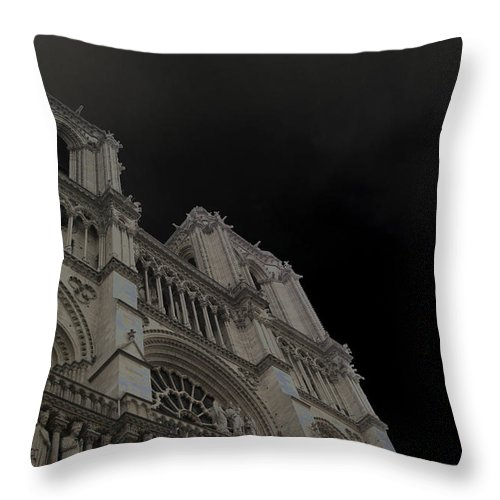Paris Throw Pillow featuring the photograph Notre Dame by Nancy Ingersoll