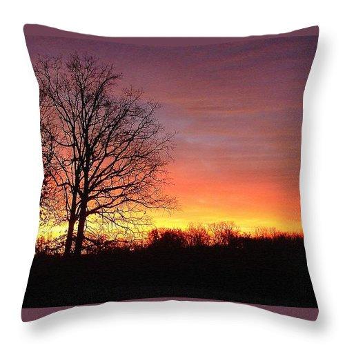 Throw Pillow featuring the photograph Nov. Sunrise by Luciana Seymour