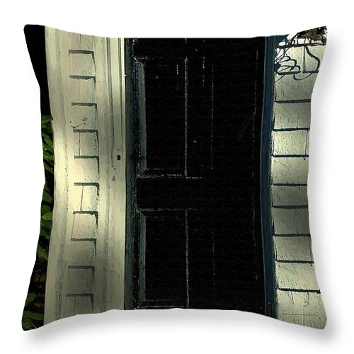 Colonial Throw Pillow featuring the painting November Night In Colonial Blue by RC DeWinter