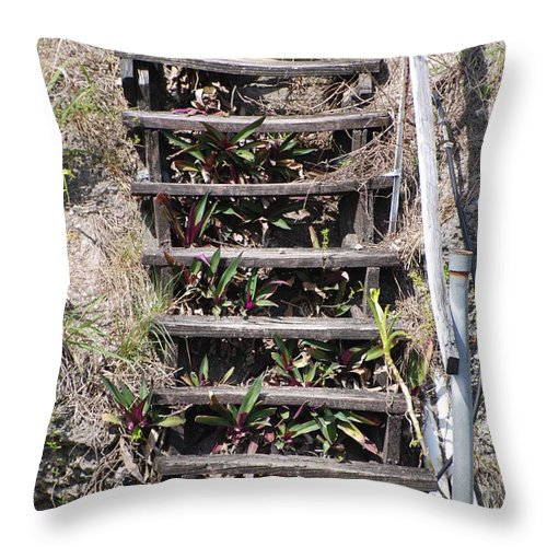 Stairs Throw Pillow featuring the photograph Nowhere Stairs by Rob Hans