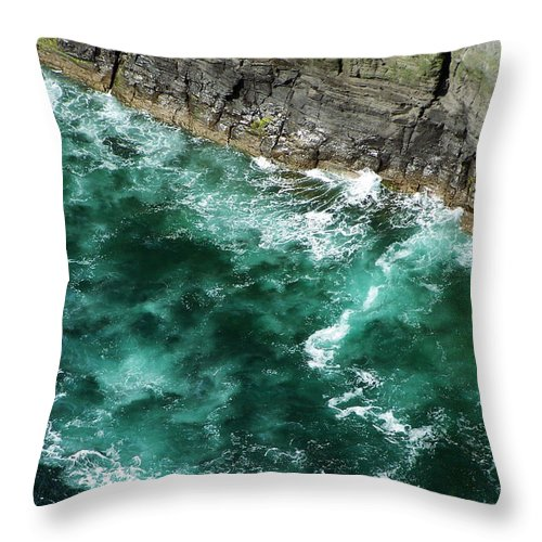 Irish Throw Pillow featuring the photograph Nowhere To Go Cliffs Of Moher Ireland by Teresa Mucha