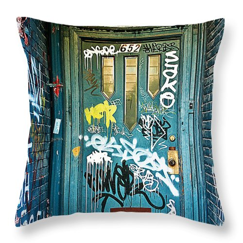 Grafitti Throw Pillow featuring the photograph Number 652 by Linda McRae