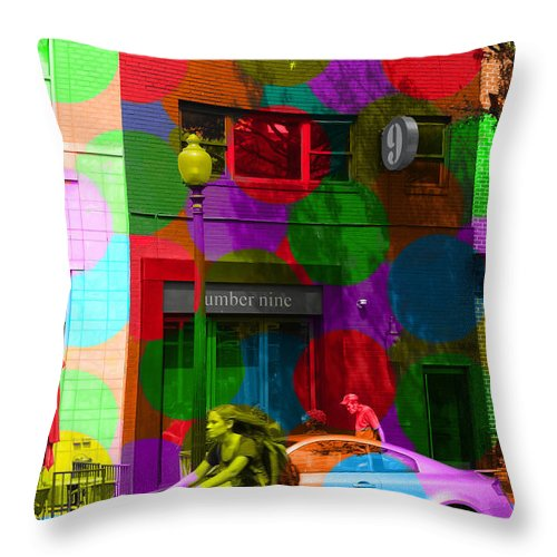 Number Throw Pillow featuring the photograph Number Nine by Jost Houk