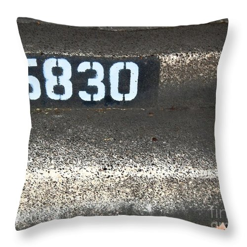Numbers Throw Pillow featuring the photograph Numbers by Debbi Granruth