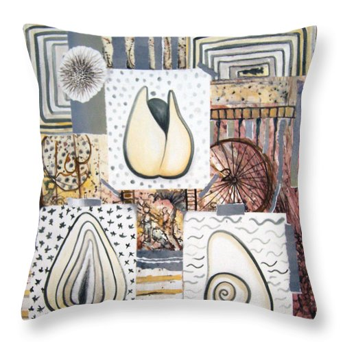 Abstract Throw Pillow featuring the painting Nuts by Valerie Meotti