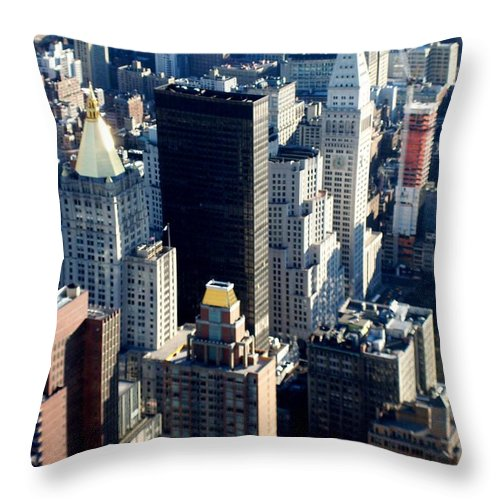 Nyc Throw Pillow featuring the photograph Nyc 2 by Anita Burgermeister
