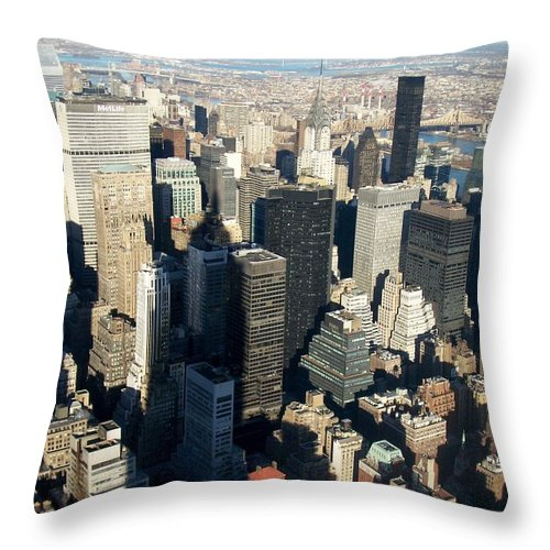 Nyc Throw Pillow featuring the photograph Nyc 3 by Anita Burgermeister