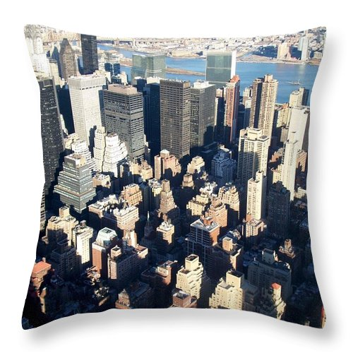 Nyc Throw Pillow featuring the photograph Nyc 4 by Anita Burgermeister