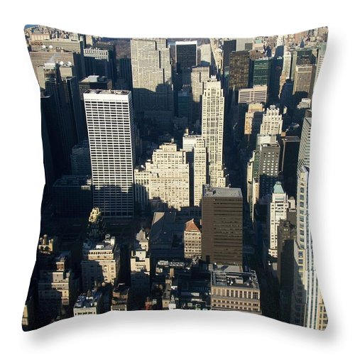 Nyc Throw Pillow featuring the photograph Nyc 5 by Anita Burgermeister