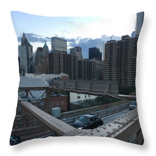 Throw Pillow featuring the photograph NYC by Ashley Torres