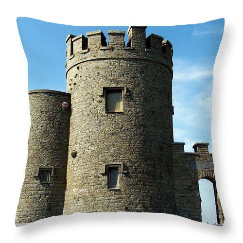 Irish Throw Pillow featuring the photograph O Brien's Tower Cliffs Of Moher Ireland by Teresa Mucha