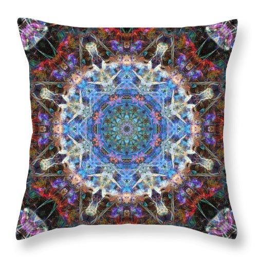 Deep Throw Pillow featuring the digital art Oa-5516 by Standa1one