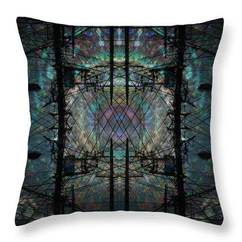 Deep Throw Pillow featuring the digital art Oa-5517 by Standa1one