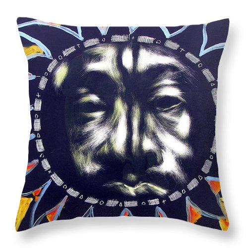 Throw Pillow featuring the mixed media Oakland Sunshine by Chester Elmore